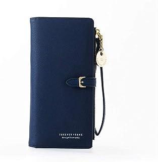 GUMAOPAJIAAAqb Monederos de Mujer, Fashion Female PU Leather Wallet Lady Purse Phone Zipper Pocket Card Holder Women's Wri...