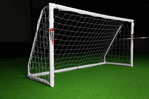 Netsportique Offerta Speciale! Porta da Calcio POWERSHOT  PRO 2,4 x 1,2 m in PVC e Anti UV con 2 Anni di Garanzia