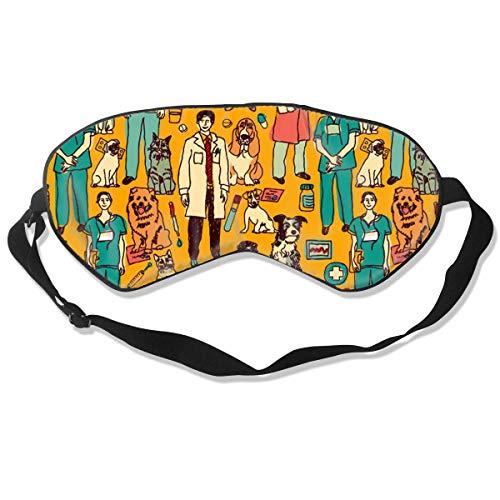 Schlafmaske für Tierärzte und Haustiere, Seidenmaske mit verstellbarem Kopfband, blockiert Licht, Augenbinde