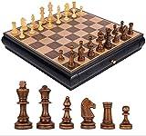 Riyyow Conjunto de ajedrez Internacional de Madera Piezas Juego...