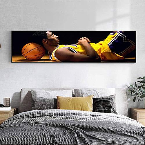 DFGRHG Estrella de Baloncesto Moderna Kobe Memorial Poster Pintura de Arte clásico Lienzo Mural Sala de Estar Decoración del Dormitorio del hogar-40x120cm (sin Marco)