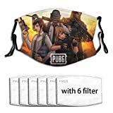 Mural Wall Art Anti-dust PUBG Washable, Reusable,with Filter Fask Masks for Women,Mens,Teen,