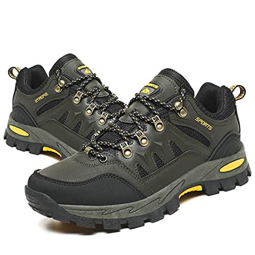 Zapatillas Trekking Hombre Mujer Zapatillas de Senderismo Transpirable Montaña Botas de Senderismo Hombre Antideslizante Caminar Verde 45 EU