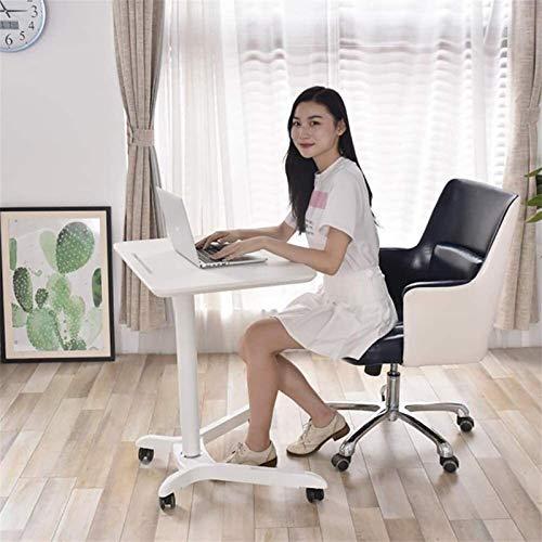 Mobile Escritorio de la computadora portátil, Estudio Altura Ajustable Sentado y de pie Tabla balanceo Carro for pie o Sentado DALIBAI (Color : C)