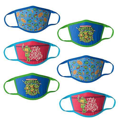 Nickelodeon Teenaged Mutant Ninja Turtle Kids Reusable Mask Multipack, TMNT, OSFA