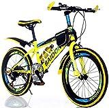 TYPO Niños Niños Niñas Bicicleta Junior Bicicleta de montaña 7 Velocidad Bicicleta de montaña de 20 Pulgadas Bicicleta para Adultos Hombres y Mujeres Off-Road Racing Niños Estudiantes Niños Bicic