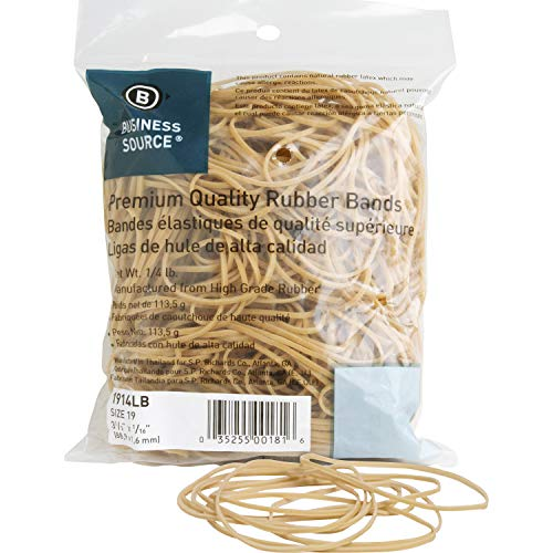 Business Source Rubber Band, Natural (1914LB)