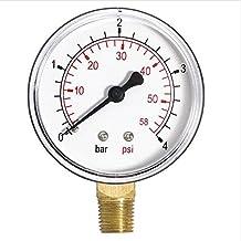 """Manómetro de entrada lateral de 1/4""""bspt"""