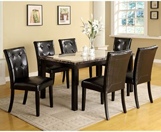 B00CE06YPY✅24/7 Shop at Home 247SHOPATHOME IDF-3188T-60 5PC Dining-Room-Sets, 5-Piece, Black