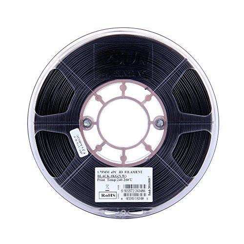 Aibecy Filament 1.75mm 1kg(2.2lb) Spool Consumables Black Polycarbonate Material Refills for 3D Printers