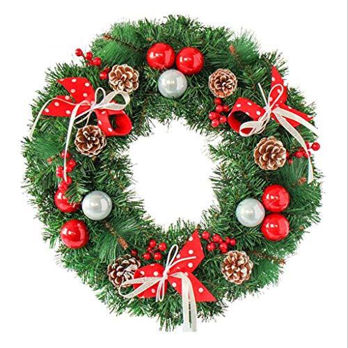 GYH Guirlande de Noël - Décorations de Noël Guirlande de Noël Porte et fenêtre Décoration (50cm de diamètre) /&