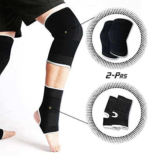 Black Exercise Wraps Support Ankle and Knee Wraps Use by Men and Women Straps for Junggling product image