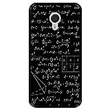 Hapdey Funda Negra para [ Meizu m3 Note ] diseño [ Cálculos matemáticos, soluciones de tareas ] Carcasa Silicona Flexible TPU