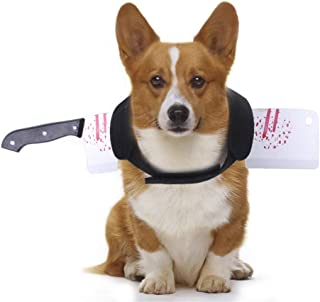 KOESON Halloween Pet Costume Dog Bloody Knife Vest Scary & Realistic Cosplay Accessories Tricky Prop(Knife L)