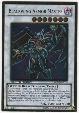Yugioh Card Inventory cleanup selling sale Gold Series 3 Armor Master Ranking TOP2 GLD3-EN038 Ultr Blackwing