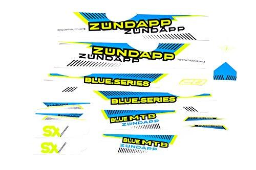 Fahrrad Dekor Satz Aufkleber Rahmen Frame Decal Sticker Zündapp Blau Grün Weiß
