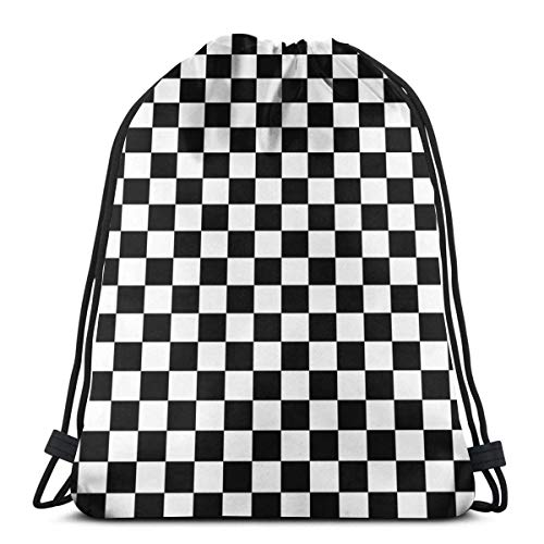 Unisex Drawstring Backpack,Checkered Flag Checkered Racing Car Winner Tagesdecke Duvet Phone Case Verstellbar Turnbeutel,Hipster Sportbeutel,Damen Herren Turnbeutel,Kordelzug Rucksack Tasche