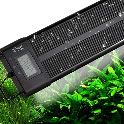 hygger Aquarium Programmable LED Light, for 30~36in Long Full Spectrum Plant Fish Tank Light with LCD Setting Display, 7 Colors, Sunrise Sunset Moon and DIY Mode, for Novices Advanced Players