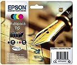 Encre d'origine EPSON C13T16264012  Multipack Stylo Plume T1626 : cartouches Noir,...