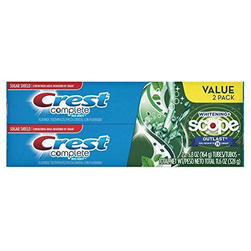 Crest Completa multi benefit ambito outlast whitening dentifricio menta 5.8 ounce (confezione da 2)