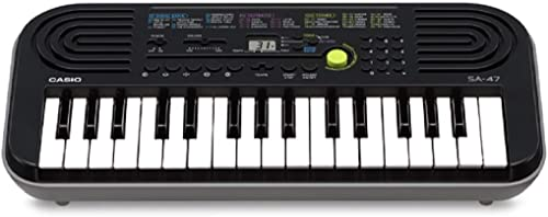 Casio SA-47A Electronic Keyboard, Black (32 Keys)