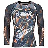 Tatami Rashguard Mech Destroyer – Rash Guard BJJ MMA Grappling Funktions Camiseta Top...