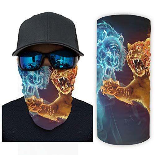 NA spel geester magische tijger water vuur kunst druk bandana gezichtsmasker zonbescherming halsmanchetsjaal