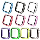 Compatible with Apple Watch Case Series 6/SE/5/4 40mm,Wiki Valley HD Clear Air Bubble Free Apple Watch Cover Case Hard PC Ultra-Thin Lightweight Protective Coverage(Colorful,10 pcs)