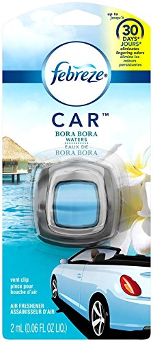 Febreze Car Odor-Eliminating Air Freshener Vent Clip - Bora Bora Waters - 1 ct