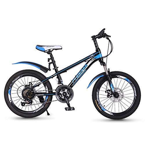 MYERZI Absorción de Impacto Bicicleta Unisex de 20 Pulgadas pequeña Rueda de Bicicleta portátil de 21 velocidades niños de Las montañas for Bicicleta Plegable Bicicleta (Color: Rosa, tamaño: 126 * 62
