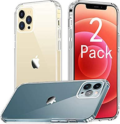 [2 Pack] CTYBB Compatible with iPhone 12 Pro Max Case, Anti-Drop Protective Cases for iPhone 12 Pro Max, 6.7 inch, Clear