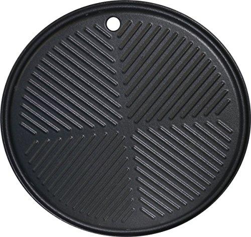 BBQ Chief Runde Grillplatte, auch für Gasgrill 6.0, 9.0 und 12.0 passend - runde Bratplatte, Wendeplatte, Plancha