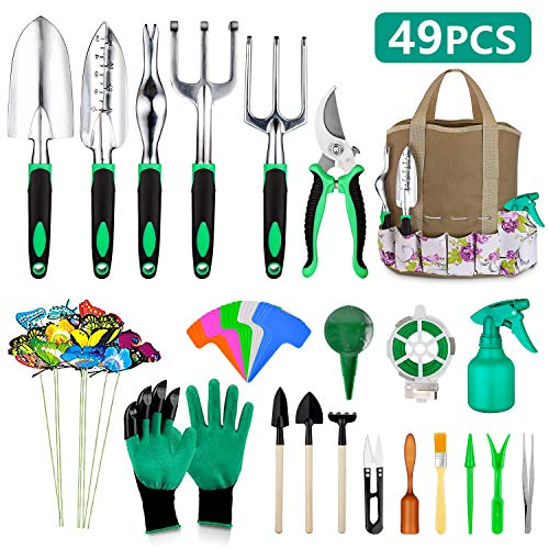 49 Pcs Garden Tools Set, Extra S...