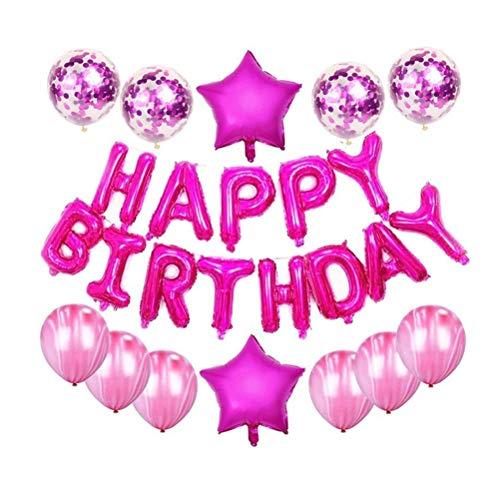 buycheapDG(JP) バースデーパーティー 飾り 誕生日 飾り付け Happy Birthday パーティーセット バルーン ケーキトッパー ガーランド バースデー バナー 可愛い キャラクター 雰囲気 お祝い 人気 誕生日風船装飾セット デコレー