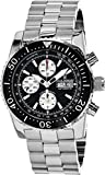 Revue Thommen Diver Automatic Watch - Black Dial Chronograph Day Date Revue Thommen Watch Mens - Waterproof Large Stainless Steel Swiss Professional Dive Watch for Men 17030.6137