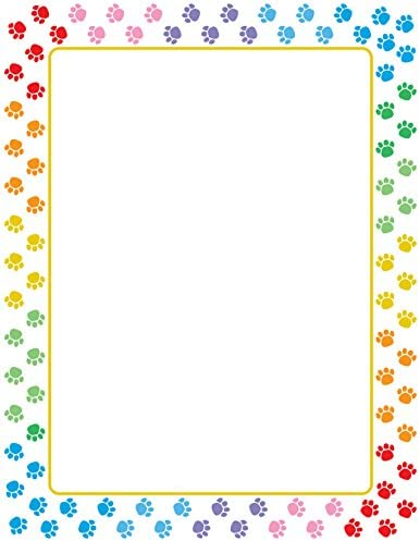 Designer Paper Paw Prints 50 Sheet Pkg Great for Flyers Writing Classroom Letters Motivation product image