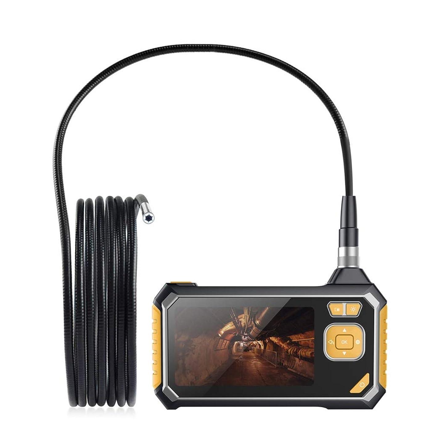 文字展望台トリクル工業用内視鏡カメラ、4.3インチ高精細LCDスクリーン内視鏡ウォールマウントカメラ1080 P FHD検出カメラライン長1メートルハンドヘルド内視鏡ホームおよび工業用内視鏡、6つのLED