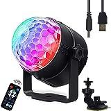 LED PAR luce Disco PA effetti di luce 3 RGB stroboscopio DJ musicale controllato USB faro ...