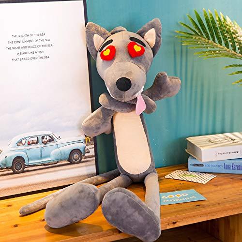 WPYLY Muñeco de Peluche de Lobo muñeca de Trapo Grande Gran Lobo Feroz Regalo de cumpleaños para niños 100 CM B