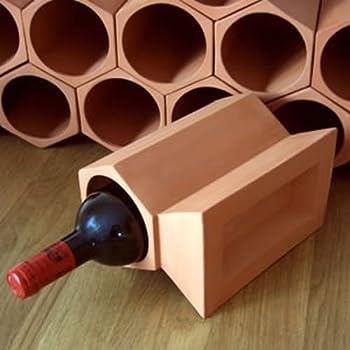 Cranville Wine Racks Casier A Vin En Terre Cuite Cle Paquet Pierre 12 Amazon Fr Cuisine Maison