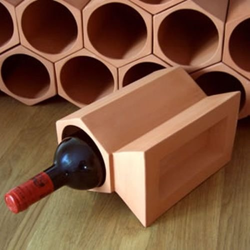 Clave Estante del Vino Terracota Piedra 12 Pack