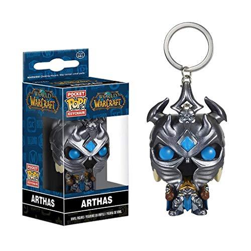 Luck7DZ Arthas Menethil Schlüsselanhänger Spiel World of Warcraft Exquisite Figur POP Sammler Spielzeug