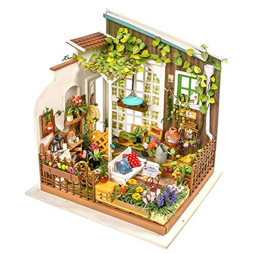 SWDCA Puzzle 3D del Rompecabezas del Juguete de Bricolaje Enigmas Modelo arquitectónico niños y niñas de cumpleaños creativos del Mejor Regalo,Sunny Garden