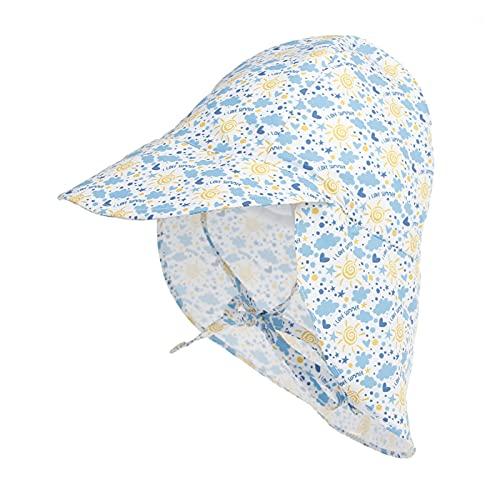 iSunday Unisex bebé multifuncional sombrero plegable niños sombrero de sol niño cubo sombreros con solapa desmontable cuello