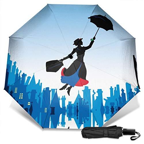 mary popp-ins té de la tarde abre la puerta 45 aniversario lauren Bert Teen película portátil tri-fold paraguas antideslizante mango UV Ray Reflector 2021 regalos fresco verano Pascua