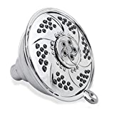 YOO.MEE High Pressure Massage Fixed Shower Head - Powerful Massage Jets x Spinning Bubbling Pulse - 6 Function Rain High Pressure Wall Mount Shower- Removable Water Restrictor - Luxury Chrome