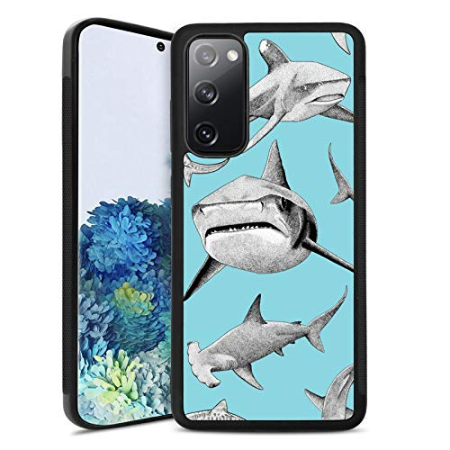 Case for Samsung Galaxy S20 FE 5G Cute Shark Customized Pattern Soft TPU and Rubber Non-Slip&Anti-Scratch Shockproof Bumper Full Protective Cover Compatible with Samsung Galaxy S20 FE 5G (Shark)