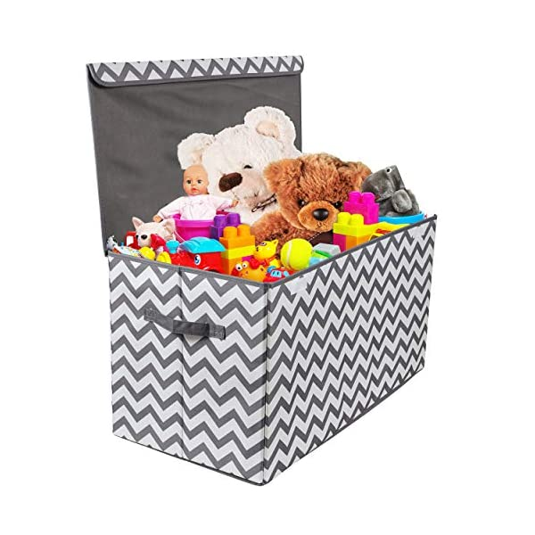 Toy Chest with Flip-Top Lid, Kids Collapsible Storage for Nursery, Playroom, Closet, Home Organization