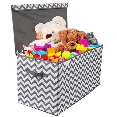 Spielzeugtruhe mit Klappdeckel| zusammenklappbare Aufbewahrung für Kinderzimmer| Spielzimmer| Schrank| Heimorganisation. Chevron | Kinderzimmer > Spielzeuge > Spielzeugkisten | Woffit
