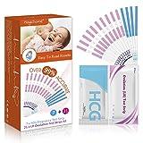 Magichome 21 Tests de Ovulación 25 Miu/Ml, Tiras De Prueba De Ovulación(Lh), y 7 Extremadamente Temprano Tests de Embarazo HCG 25 mIU/ml Sensible y Preciso Resultados